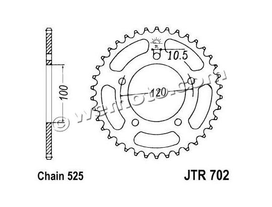 Aprilia RSV4 Factory 11 Sprocket Rear - JT