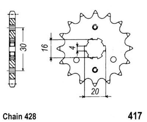 Kawasaki KE 100 A7-A9 79-81 Sprocket Front Plus 2 Teeth - JT (Check Chain Length)