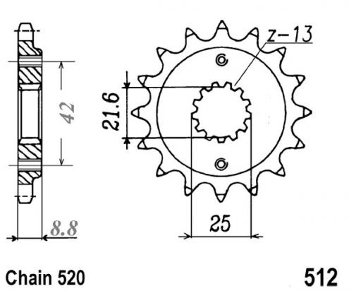 Kawasaki KLE 500 A1 91 Sprocket Front Plus 1 Tooth - JT (Check Chain Length)