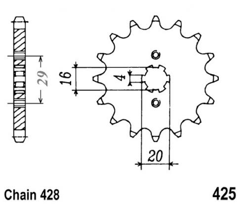 Suzuki GP 100 C Disk Brake 78-80 Sprocket Front Plus 2 Teeth - JT (Check Chain Length)