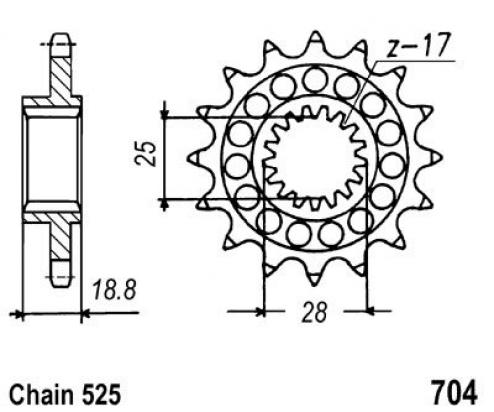 Aprilia ETV 1000 Caponord / Raid 04-06 Sprocket Front Less 1 Tooth - JT (Check Chain Length)