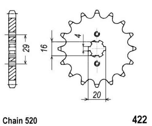Kawasaki KX 125 H2 91 Sprocket Front Plus 2 Teeth - JT (Check Chain Length)