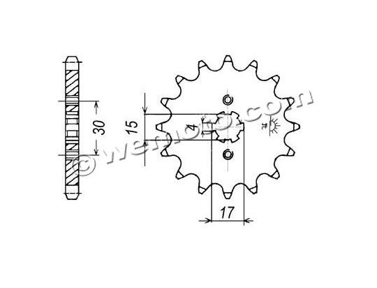 Honda H 100 SG/SJ 86-93 Sprocket Front Plus 1 Tooth - Pattern (Check Chain Length)
