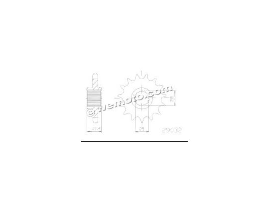 Aprilia Dorsoduro 750 09 Sprocket Front - Esjot