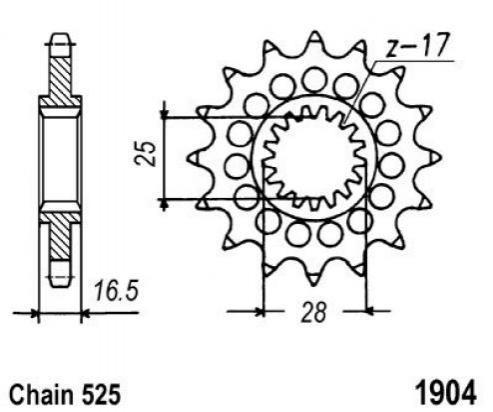 KTM 1290 Super Duke R 16 Pignone 2 denti in meno - JT (Controllare Lunghezza Catena)