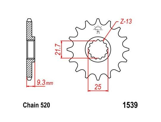 Kawasaki EX 300 Ninja (US Market) 17 Sprocket Front Plus 1 Tooth - JT (Check Chain Length)