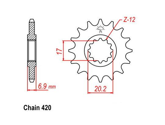 Aprilia MX 50 04-05 Sprocket Front Plus 1 Tooth - JT (Check Chain Length)