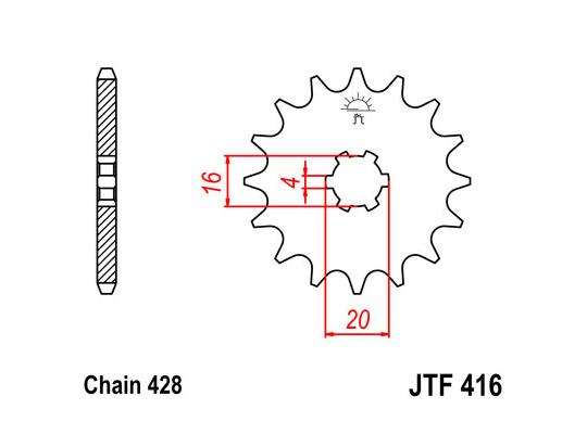 Suzuki RM 80 HF 85 Sprocket Front Plus 1 Tooth - JT (Check Chain Length)