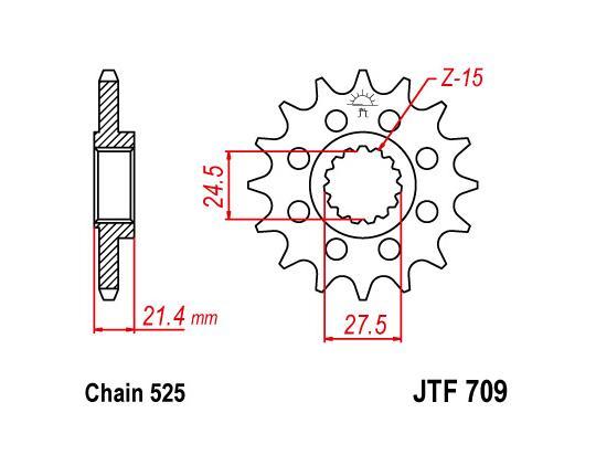 Aprilia Dorsoduro Factory 750 11 Sprocket Front - JT