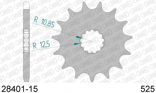 Suzuki GSXR 600 K1 01 Sprocket Front Less 1 Tooth - Afam (Check Chain Length)