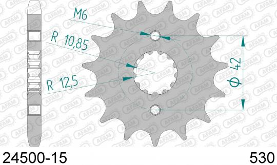 Kawasaki Z 550 (KZ 550 A1) 80 Sprocket Front Less 1 Tooth - Afam (Check Chain Length)