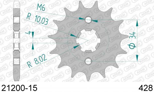 Suzuki DR 125 SMK8 08 Sprocket Front Less 1 Tooth - Afam (Check Chain Length)