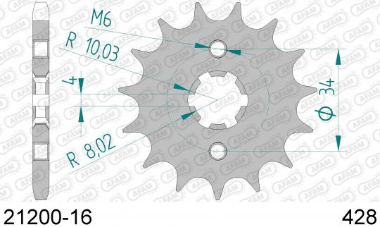 Suzuki TS 100 ERN 79 Sprocket Front Plus 2 Tooth - Afam (Check Chain Length)