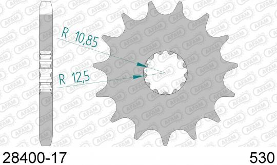 Suzuki GSX 750 ESE 84-85 Corona Dentada (Piñon) Delantero más 3 diente - Afam (comprobar longitud)