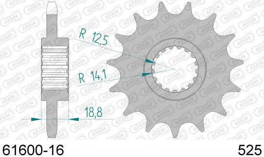 Aprilia ETV 1000 Caponord (PS004) (ABS Model) 04-07 Sprocket Front Less 1 Tooth - Afam (Check Chain Length)