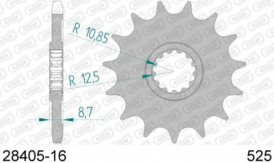Kawasaki Z 1000 SX (ZX 1000 WJF) Ninja 1000 ABS 18 Sprocket Front Plus 1 Tooth - Afam (Check Chain Length)