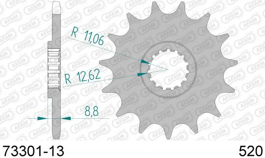 KTM MX 125 88 Přední kolečko Afam