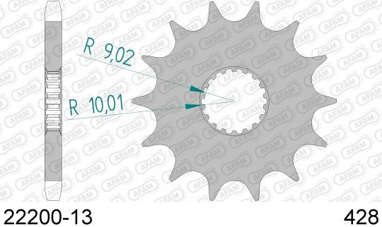 Suzuki EN 125 (Spoke Wheels) 04-06 Sprocket Front Less 1 Tooth - Afam (Check Chain Length)