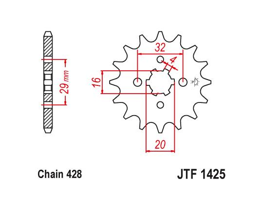 Suzuki GSXS 125 MLX GSX-S 125 17 Sprocket Front Plus 1 Tooth - JT (Check Chain Length)