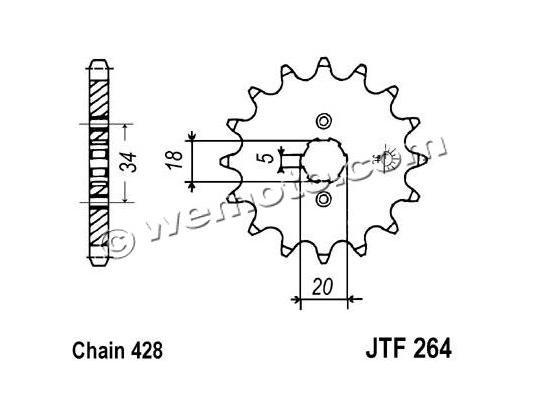Honda C 90  70-82 Sprocket Front Plus 1 Tooth - JT (Check Chain Length)