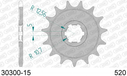 Kawasaki KDX 200 E1/E2/E3/E4 89-92 Sprocket Front Plus 2 Tooth - Afam (Check Chain Length)