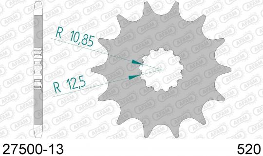 Suzuki RGV 250 T (RGVR 250 SP VJ23A) 96 Sprocket Front Less 1 Tooth - Afam (Check Chain Length)