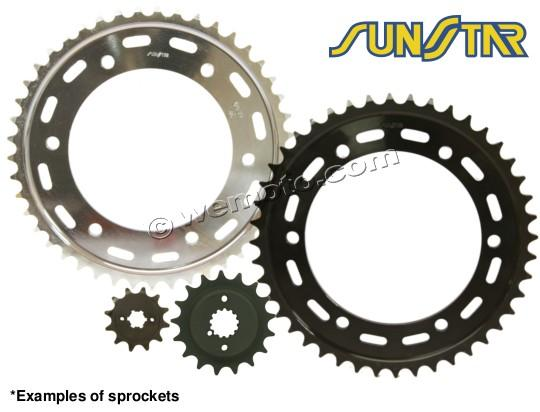 Kawasaki KDX 200 E1/E2/E3/E4 89-92 SunStar Sprocket Rear - Alloy - Plus 1 Tooth