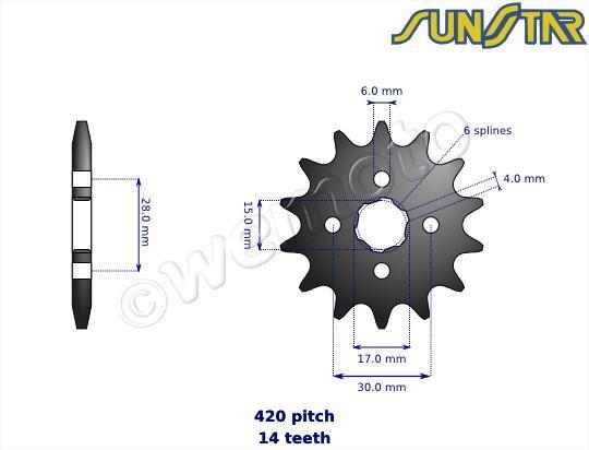 Honda ANF 125-5 Innova 05 SunStar Sprocket Front