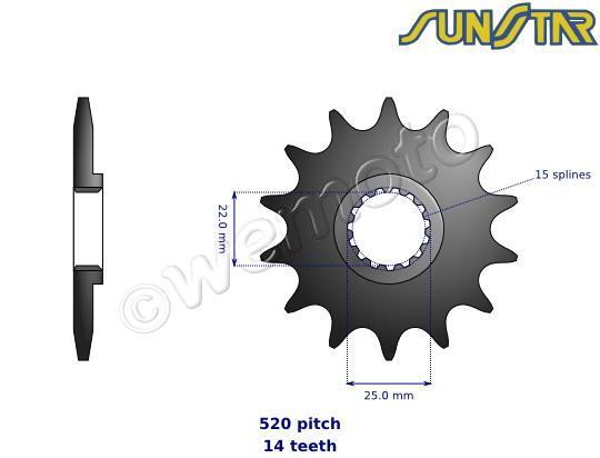 KTM EXC-F 350 13 Pignone Sunstar