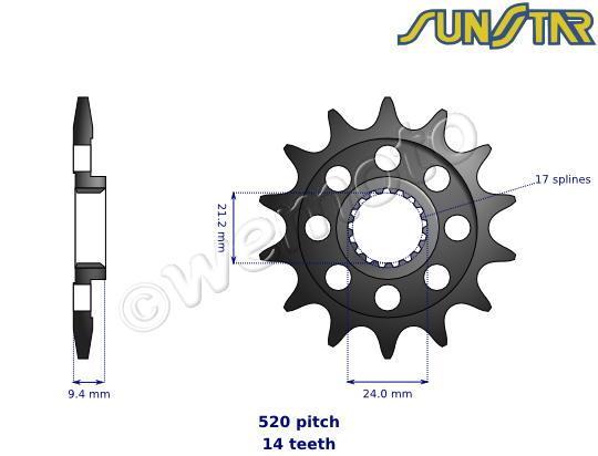 Suzuki RM-Z 450 K6 06 SunStar Sprocket Front
