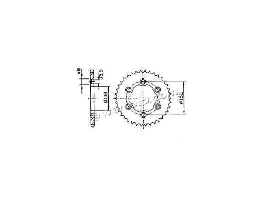 Aprilia RXV 450 09 Sprocket Rear - Alloy - Less 2 Teeth (Check Chain Length)