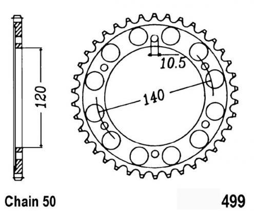 Kawasaki VN 800 A3/A4 97-98 Sprocket Rear Less 2 Teeth - JT (Check Chain Length)