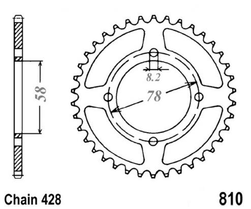 Suzuki GS 125 UX Kick Start 99 Sprocket Rear - JT