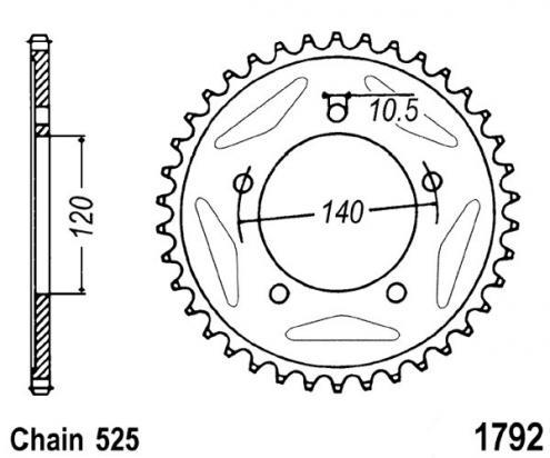 Suzuki GSXR 750 K7 07 Sprocket Rear Less 2 Teeth - JT (Check Chain Length)
