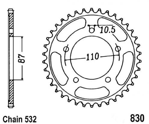 Suzuki GSXR 1100 G 86 Sprocket Rear Less 1 Tooth - JT (Check Chain Length)