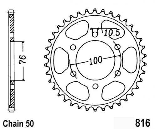 Suzuki GSX 400 FW/FWS/FWS-2 83-85 Sprocket Rear Less 2 Teeth - JT (Check Chain Length)