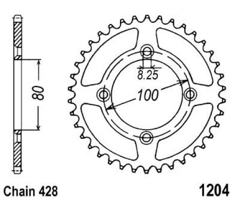 Honda CRF 125 F (Small Wheel) 15 Sprocket Rear Plus 1 Tooth - JT (Check Chain Length)