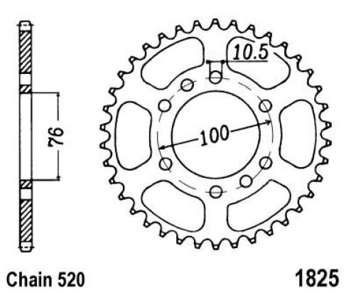 Suzuki DR 500 SX 81 Sprocket Rear Plus 3 Teeth - JT (Check Chain Length)
