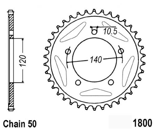 Suzuki GSXR 1000 K5 05 Sprocket Rear Plus 3 Teeth - JT (Check Chain Length)