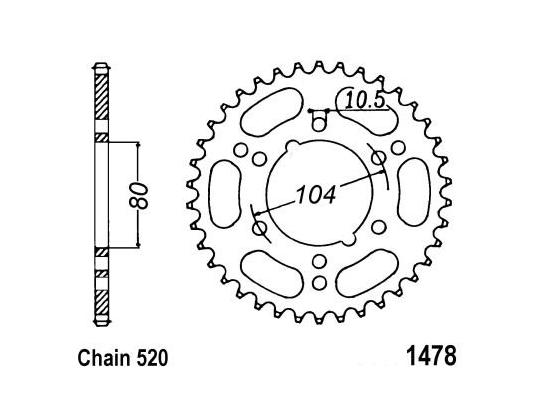 Kawasaki ER-6 F DBF (ABS) 11 Sprocket Rear Less 3 Teeth - JT (Check Chain Length)
