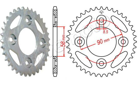 Honda Wave AFS110i SHD (Front Drum Model) 13 Sprocket Rear - JT