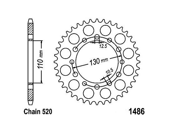 Kawasaki EX 300 Ninja (US Market) 17 Sprocket Rear Less 2 Teeth - JT (Check Chain Length)