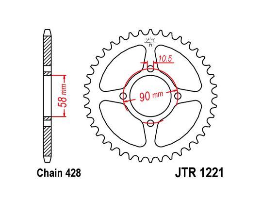 Honda CB 125 F / GLR 125 16 Corona JT