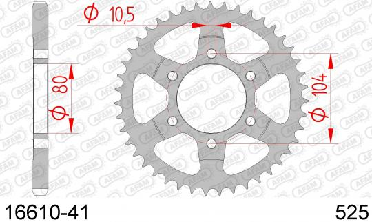 Kawasaki ZX-6R (ZX 636 A1P) 02 Sprocket Rear Plus 1 Tooth - Afam (Check Chain Length)