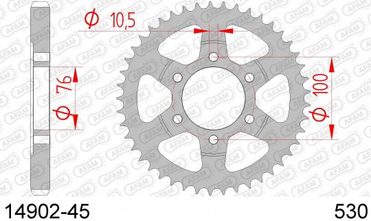 Suzuki GSXR 1100 WP (GU75C) 93 Sprocket Rear Plus 3 Tooth - Afam (Check Chain Length)