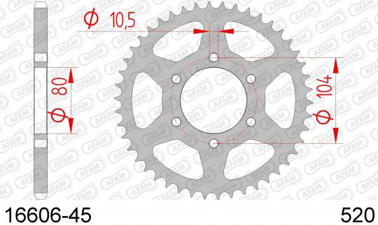 Kawasaki ER-6 F DBF (ABS) 11 Sprocket Rear Less 1 Tooth - Afam (Check Chain Length)