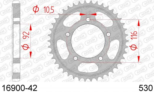 Kawasaki ZZR 1400 ABS (ZX 1400 DBF) 11 Sprocket Rear Plus 1 Tooth - Afam (Check Chain Length)