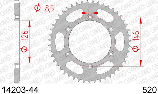 Suzuki DR-Z 400 E K6/K7 06-08 Sprocket Rear Less 3 Tooth - Afam (Check Chain Length)