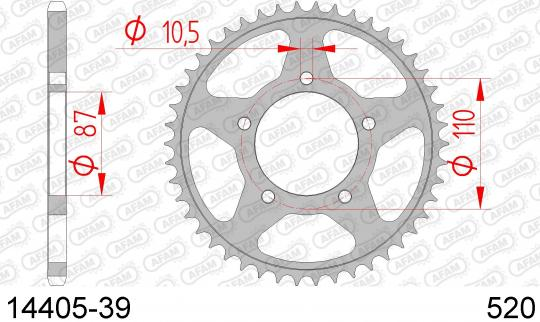 Suzuki GS 500 EM 91 Sprocket Rear - Afam