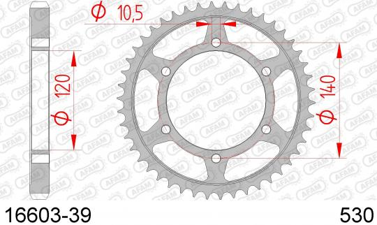 Suzuki TL 1000 SW 98 Sprocket Rear Plus 1 Tooth - Afam (Check Chain Length)